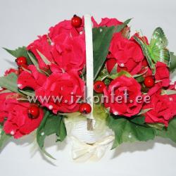 Розы в корзине №183